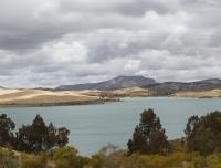Pano van de meren bij El Chorro